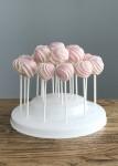 Pink & White Stripe Cake Pops